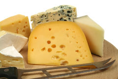 Cheese and knife Stock Photography