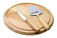 Cheese Knife and Cutting Board Stock Images