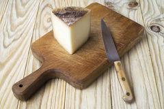 Cheese and knife Royalty Free Stock Photo