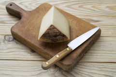 Cheese and knife Royalty Free Stock Images