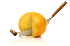 Cheese knife with Dutch Edam cheese Royalty Free Stock Photography