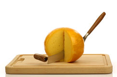 Cheese knife with  Dutch Edam cheese Stock Image
