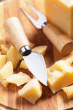 Cheese knife and fork Stock Photography