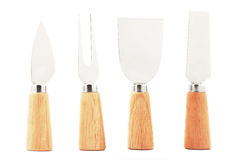 Cheese knives and fork Royalty Free Stock Image