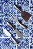 Cheese knives Stock Images