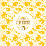 Cheese label and frame with pattern Stock Photography