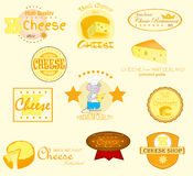 Cheese Labels Royalty Free Stock Image
