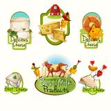 Cheese labels set Royalty Free Stock Photo