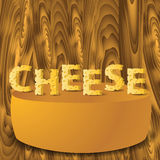 Cheese letters and cheese Royalty Free Stock Images