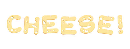Cheese Letters Stock Photo