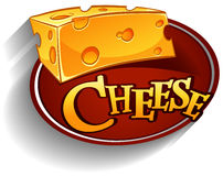 Cheese lofo with text Royalty Free Stock Photography