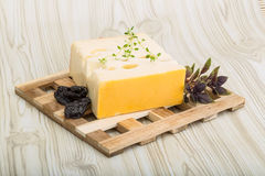 Cheese maasdam Royalty Free Stock Images