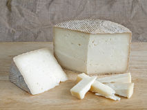 Cheese made from sheep's milk typical cuisine of Palencia Royalty Free Stock Images