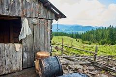 Cheese making hut Royalty Free Stock Photo