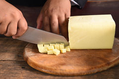 Cheese for making pizza. Royalty Free Stock Images