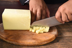 Cheese for making pizza Royalty Free Stock Images