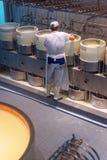 Cheese making process Stock Photos