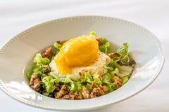 Cheese and mango icecream salad Stock Images