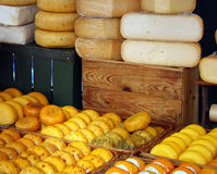Cheese market Stock Photos