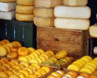 Cheese market stock photos