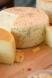 Cheese at market Stock Photography