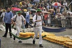 Cheese market Alkmaar stock photography