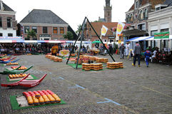 Cheese market in Edam Stock Image