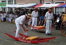 Cheese market in Edam Royalty Free Stock Photography