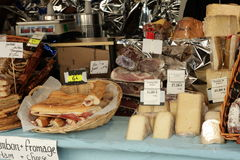 Cheese market in France Royalty Free Stock Photo