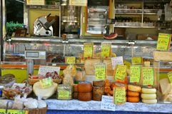 Cheese market in Italy  Stock Photography