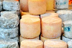 Cheese market in Italy Royalty Free Stock Photos