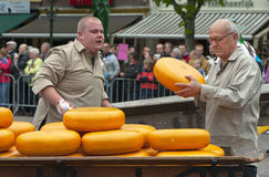 Cheese Market Porters Royalty Free Stock Photography