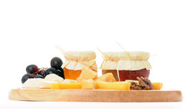 Cheese with marmalade Royalty Free Stock Images