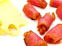 Cheese and meat Royalty Free Stock Photos