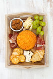 Cheese with meat, grape Stock Image