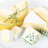 Cheese with melon Royalty Free Stock Photography