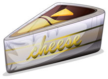A cheese in a metallic container Stock Image