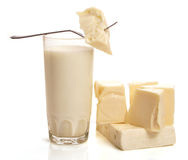 Cheese milk Stock Photography