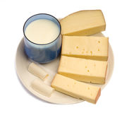 Cheese milk Royalty Free Stock Photography