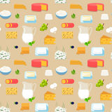 Cheese milk dairy grapes pattern vector flat dorblu blue cheese Royalty Free Stock Image