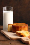 Cheese and milk Royalty Free Stock Image