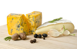 Cheese with mold with spice Royalty Free Stock Photography