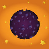 Cheese moon and stars stock photography