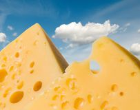 Cheese mountains Royalty Free Stock Photos