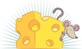 Cheese and Mouse stock illustration