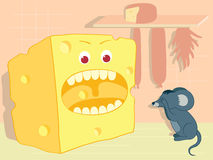 Cheese and mouse Royalty Free Stock Images