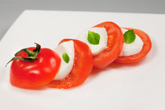 Cheese Mozzarella and tomato Royalty Free Stock Images