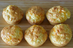 Cheese muffin. A batch of homemade cheese muffin, low carb recipe Stock Photo
