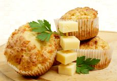 Cheese Muffins Stock Images