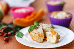 Cheese muffins with pumpkin Stock Image